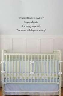 Nursery Decor Art Wall Vinyl Decal Lettering Boy Quote