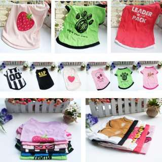 Pet Dog Cat Clothes Shop Multiple XS S M L Pattern Cute Apparel Coat
