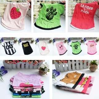 Pet Dog Cat Clothes Shop Multiple XS S M L Pattern Cute Apparel Coat