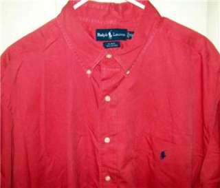 RALPH LAUREN Blake Brick Red short sleeved button front shirt XXL