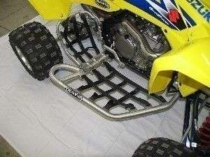 Rath Racing Nerf Bars Peg Heel Guard Suzuki LTR450 Silv
