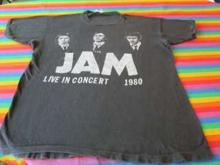 rare PUNK ROCK BAND TEE SHIRT 1980 CONCERT SHIRT