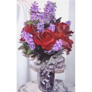 Red Roses,Violet Lilacs,Valentines Day Grocery & Gourmet Food