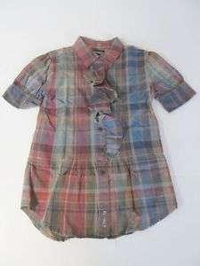 New Ralph Lauren Girls Plaid Dress Shirt 7 8 10 14 16