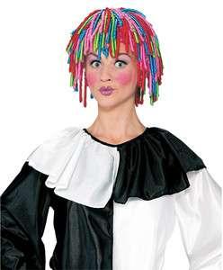 clown RAINBOW WIG circus curly locks adult mens womens halloween