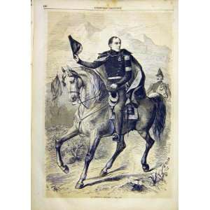 Portrait General Dufour French Print 1859 Military Home