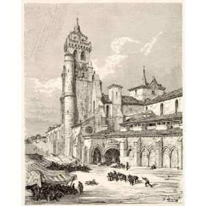 1876 Print Dore Spain Abbey Santa Maria Las Huelgas