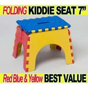 Folding Kiddie Seat Stool Toy Chair Bench Kid Toddler Play Children