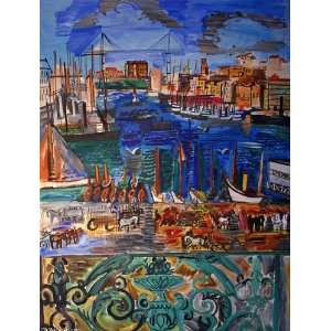 Made Oil Reproduction   Raoul Dufy   32 x 42 inches
