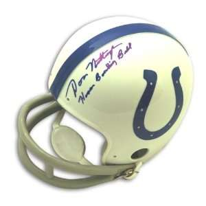 Colts Mini Helmet inscribed Human Bowling Ball Sports Collectibles