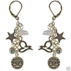 Kirks Folly Crystal Star Gazer Earrings Libra Zodiac