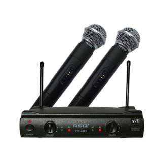 RSQ VHF 238N Dual Ch VHF Wireless Microphone System New