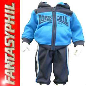 Lonsdale baby boys blue tracksuit outfit ,pants, jacket