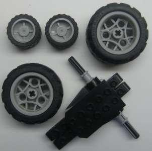 LEGO PULL BACK TECHNIC MOTOR 4 wheels cars trucks vehicles wind up