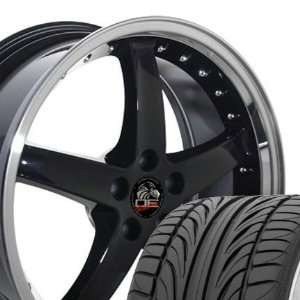 Cobra R Deep Dish Style Wheels and Tires with Rivets and Machined Lip