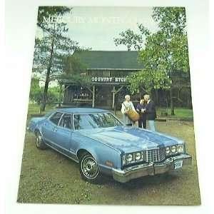 1974 74 Mercury MONTEGO BROCHURE Sport MX Brougham