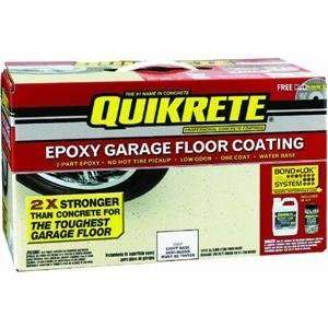 QUIKRETE 1 Gallon Kit Epoxy Garage Floor Coating Light Base VOC 002