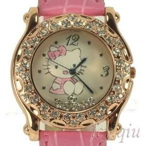Rose Floating Crystal Ladies Quartz Wrist Watch