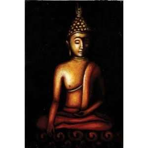 BUDDHA PAINTING ON CANVAS: Home & Kitchen