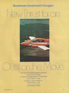 1976 Grumman American Cougar Aircraft report 1/15/12