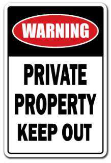 PRIVATE PROPERTY KEEP OUT Parking Sign security signs no trespassing