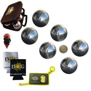 Petanque Bocce Set   73mm Chromed Steel Set Sports