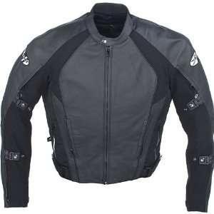 Mens Advanced Black Pro Street Leather Jacket   Size : 50
