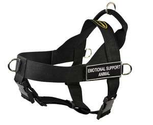 No Pull Harness with Velcro Patches EMOTIONAL SUPPORT ANIMAL