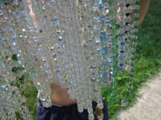 Aurora Borealis Crystal Czech Glass Bead Necklace Lot