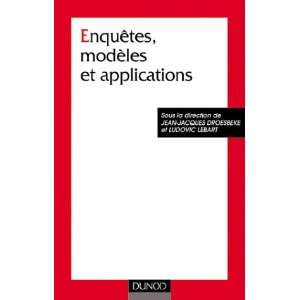 Enquêtes modeles et applications   sciences sociales et