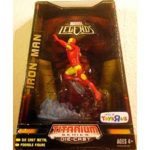 TITANIUM SERIES DIE CAST MARVEL LEGENDS   IRON MAN Toys & Games