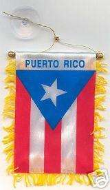 PUERTO RICO CAR FLAG MINI BANNER