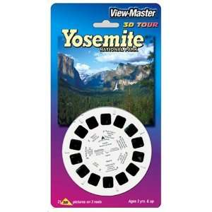View Master 3D 3 Reel Card Yosemite National Park Toys