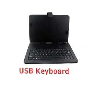 Leather Case Cover USB Keyboard for Tablet PC Epad