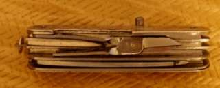 Sterling Engraved Swiss Army Style Pocket Knife