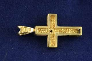 Jewelry Gold Vermeil Diamond Christian Cross Necklace Pendant
