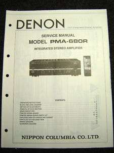 Original Denon PMA 680R Service Manual