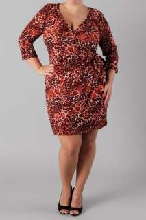 Animal Print Plus size Wrap Dress 1X 2X 3X