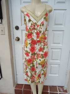 PLENTY by TRACY REESE SILK FLOWER PRINT DRESS SZ M