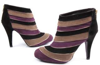 2012 New Spring Stripes Stiletto Womens Shoes High Heels Platform