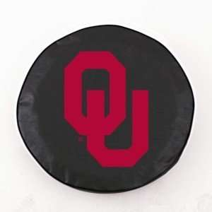 Oklahoma Sooners Black Tire Cover, Small