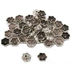 Flower End Bead Caps Sterling Silver 6mm Approx 50: Home