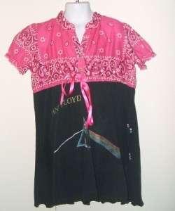 NWT Lola & James Pink Floyd Vintage Bandana Dress 5