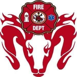 Firefighter Sticker   4 Dodge Ram Maltese Cross Exterior Window Decal