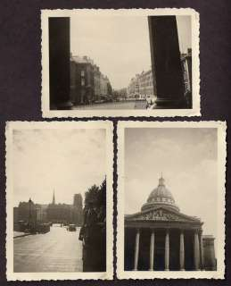 GERMANY WW2 , 3 PHOTOS , NAZI SOLDIERS IN PARIS   P5