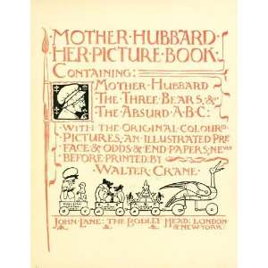 Mother Hubbard Her Picture Book, Containing Mother Hubbard