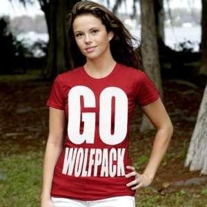 My U North Carolina State Wolfpack Ladies Red Team Cheer T