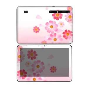 Pink Daisy Decorative Skin Decal Sticker for Motorola Xoom Tablet