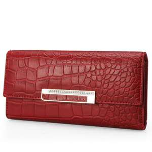 Hyundai Hmall ALPACHINO Faux Leather Long Women Wallet A3H04301 Red