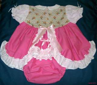 Sissy MONKEYING AROUND Peek A Boo Dress Set w/ Diaper Cover